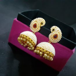 Antique Pearl Jhumki Earring