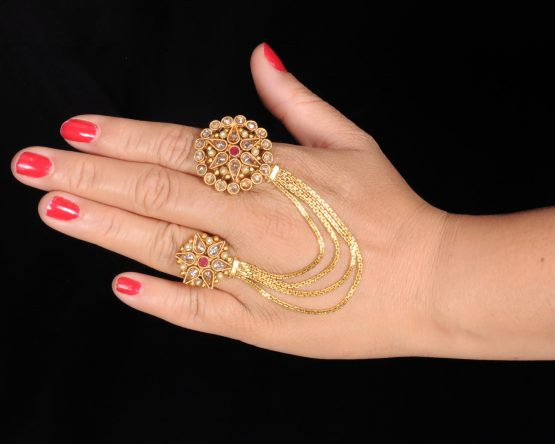 Designer Two Finger Ring