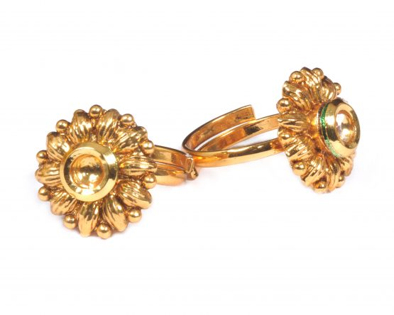 Flowery Adjustable Toe Ring