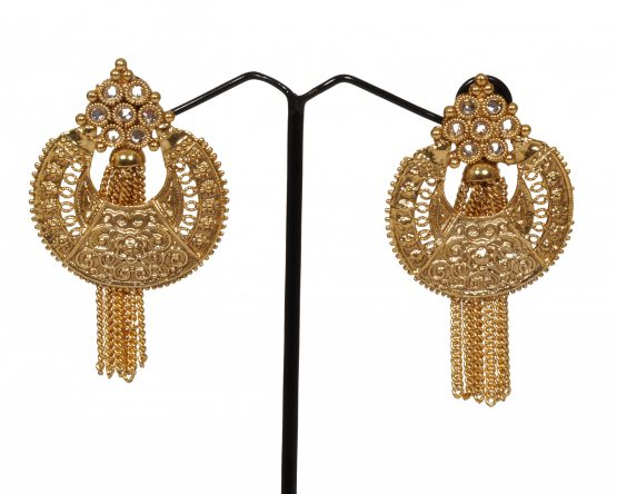 Antique Chandbali Chime Earring with Gold Plating