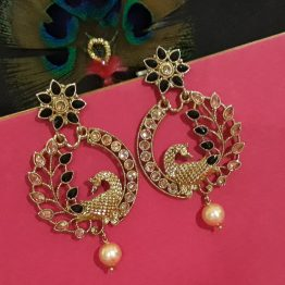 Antique Peacock Earring in Black