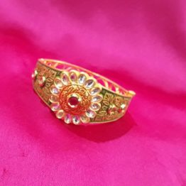 Flower Center Antique Kada for Girls (Ruby Green)