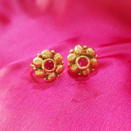 Round Ball Toe Ring(Golden, Pink)