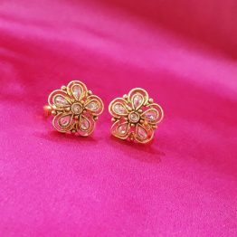 Flower Design Paan Toe Ring