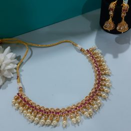 Paan Ruby Necklace Set