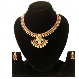 Leaf Style Jewellery Set(Golden, Pink)