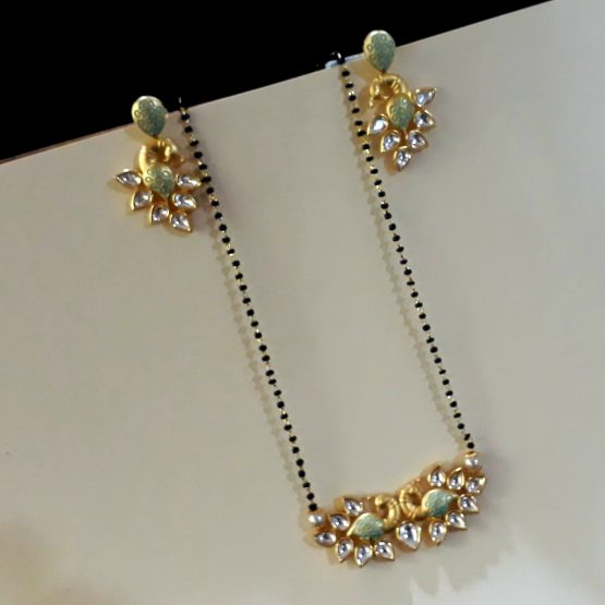 Peacock Mangalsutra (Gold, Mint)
