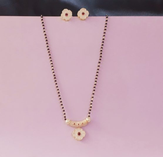 Antique Mangalsutra (Light Gold, Pink)