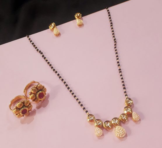 Kundan Mangalsutra and Toe Ring Combo