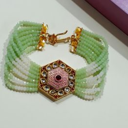 Multi Layer Beads Bracelet (Golden, Mint)