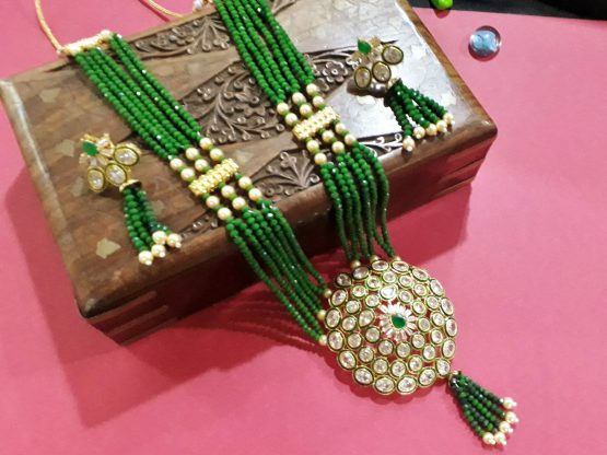 Antique Rani Haar (Gold, Green)