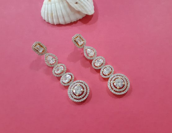 AD Earring embellished with round stones