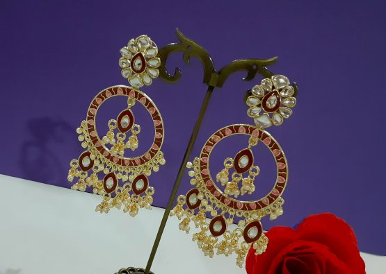 Pearl Drop Indo Western Chand Earring
