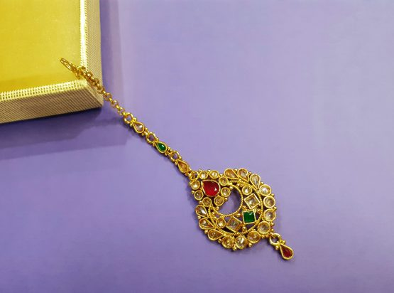 Traditional Antique Chaand Maang Tikka