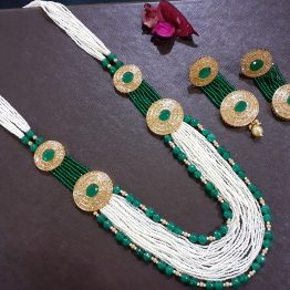 Multi Layer Rani Haar Long Necklace Set