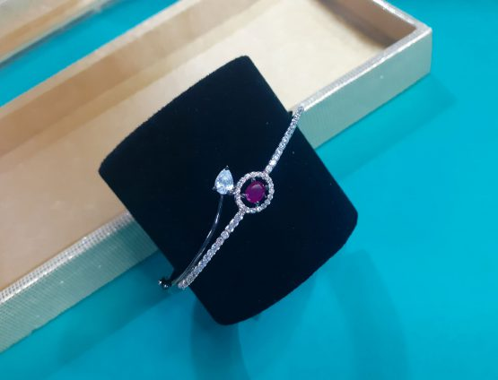 AD Kada Bracelet with Black Rose Plating