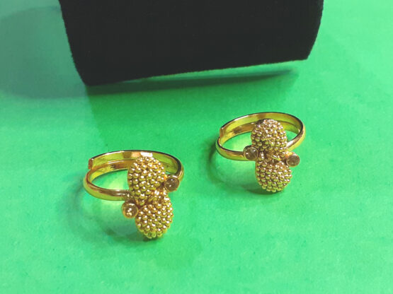Golden Plated Toe Ring Set