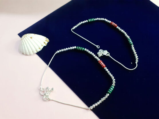 Ethnic Colorful Oxidised Plated Anklet Pair